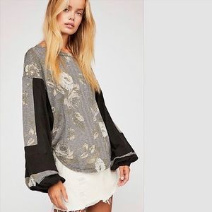 Free People Flower Patch Floral Thermal Top NWT